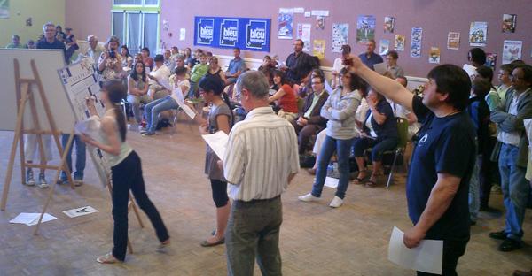 Comme ici à Is-sur-Tille en 2011, le tournoi des collèges plaît aux acteurs et aux spectateurs.