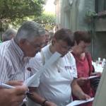 Hervé, Corinne et Renée à l'ouvrage