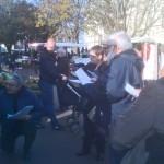 Les chalands eudois sont venus dire leurs mots en ouverture du festival.