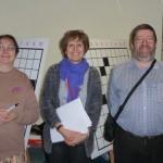 Des demi-finalistes du tournoi solo autour de Pascale, arbitre Eskimos