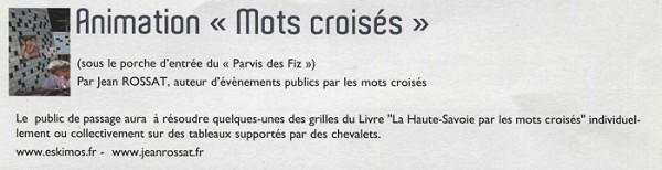 Comme en 2014, les mots croisés du Haut-Savoyard seront au programme du Salon passerand